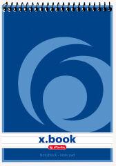 herlitz Bloc-note à spirale x.book, A7, 50 pages, quadrillé