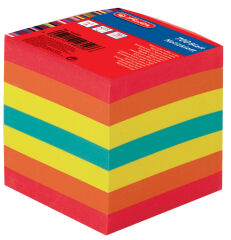 herlitz Bloc-notes cube, 90 x 90 mm, coloré, 80 g/m2