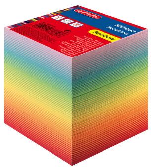 herlitz Bloc-notes cube, 90 x 90 mm, 80 g/m2, coloré