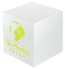 Bloc-notes cubeGreen, 90 x 90 mm, blanc