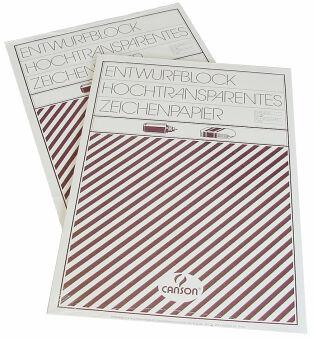 Calque satin, blocs - très transparent, Format A4, 80 - 85 g/m2
