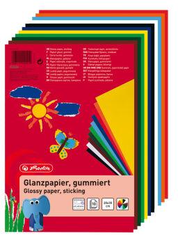 herlitz Papier brillant, 200 x 300 mm, contenu: 10 feuilles
