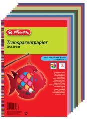 herlitz Papier transparent, 200 x 300 mm, contenu: 10
