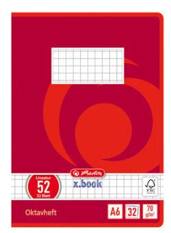 herlitz Cahier Octave x.book, format A6, ligné, 70g/m2, 60