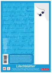 herlitz Bloc de papiers buvards format A5, 80 g/m2, blanc