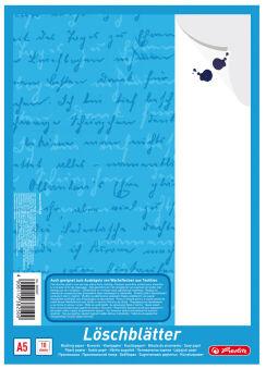 herlitz Bloc de papier buvard format A5, 80 g/m2, blanc