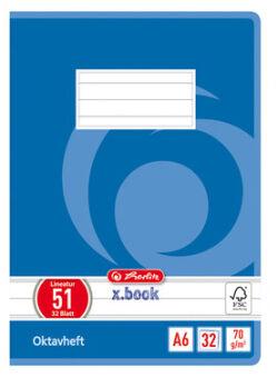 herlitz Cahier Octave x.book, A6, quadrillé, 70 g/m2