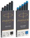 PARKER Cartouches d'encre grande capacité QUINK, noir-bleu