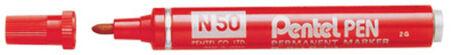 Pentel Marqueur permanent N50, pointe ogive, noir