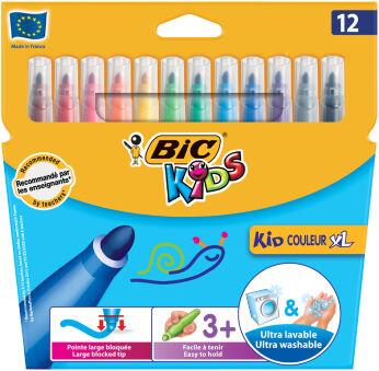BIC KIDS Feutre Kid Couleur XL, étui en carton de 12