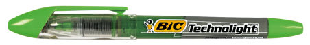 BIC Surligneur Technolight, technologie Liquid Ink, vert