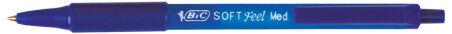 BIC Stylo à bille rétractable Soft Feel Clic grip, rouge