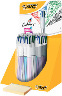 BIC Recharge pour stylo à bille 4 Colours, M, bleu