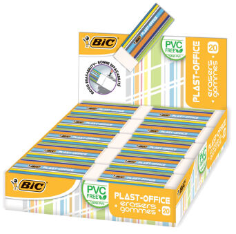 BIC Gomme en plastique Plast-Office, présentoir de table