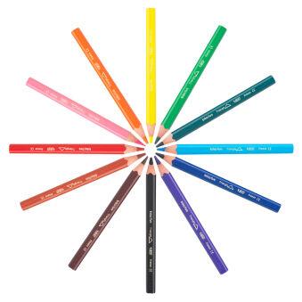 BIC KIDS Crayon de couleur triangulaire Evolution Triangle,