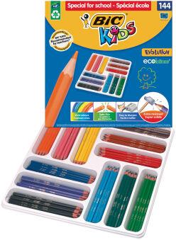 BIC KIDS Crayons de couleur Evolution ECOlutions, paquet de