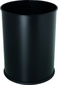helit Corbeille à papier en acier 'the base', 15 litres,noir