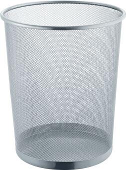 helit Corbeille à papier 'the dot', 15 L, gris aluminium