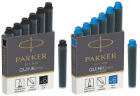 PARKER Cartouches d'encre Mini QUINK, bleu, effaçable