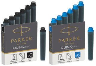 PARKER Cartouches d'encre Mini QUINK, permanent, noir