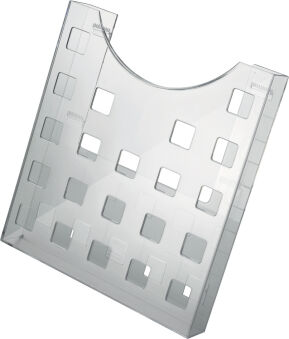 helit Porte-brochures 'the grid', A4, gris-transparent