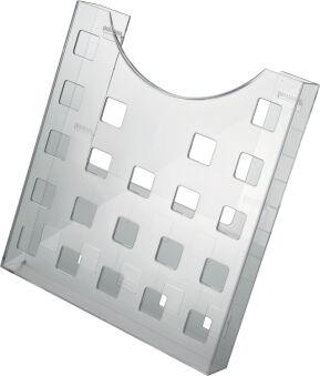Accessoire, helit Support mural 'the grid', gris transparent