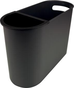 helit Corbeille à papier 'the oval', 22 litres, PS, noir