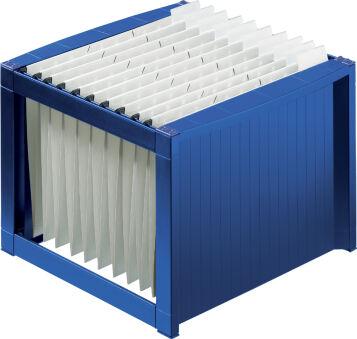 helit Bac pour dossiers suspendus 'the rack', bleu