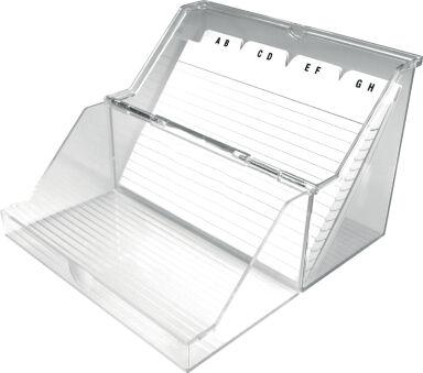 helit Petite boîte à fiches 'the index' transparent