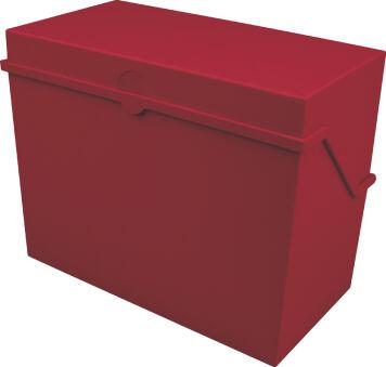 helit Petite boîte à fiches 'the index' A6 paysage, rouge
