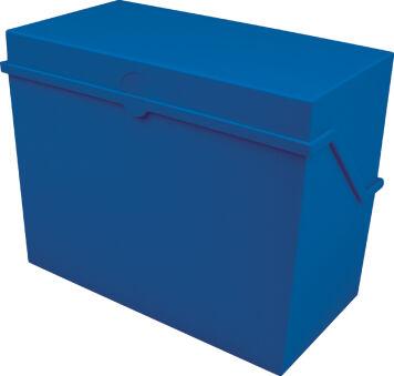 helit Petite boîte à fiches 'the index' A6 paysage, bleu