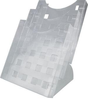 helit Porte-brochures de table 'the step grid', transparent