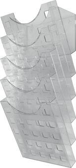 helit Porte-brochures mural 'the grid wall' gris transparent