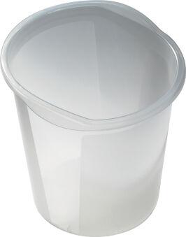 helit Corbeille à papier 'the joy', PP, 13 litres, blanc