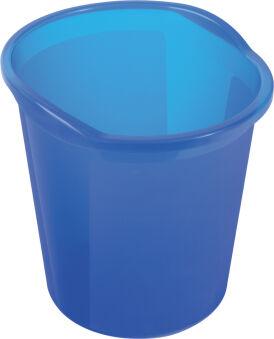 helit Corbeille à papier 'the joy', PP, 13 litres, bleu