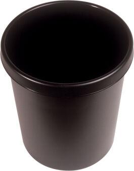 helit Corbeille à papier 'the german', 30 litres, PE, noir