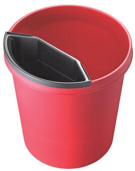 helit Corbeille à papier 'the german', 45 litres, PE, rouge