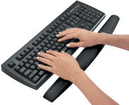 Fellowes Repose-poignet pour clavier Memory Foam, noir