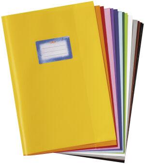 herlitz Protège-cahier format A4, gaufré (raphia), PP, jaune