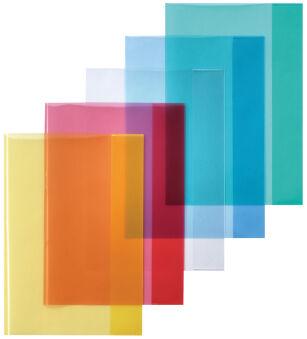 herlitz Protège-cahier format A4, en PP, jaune transparent