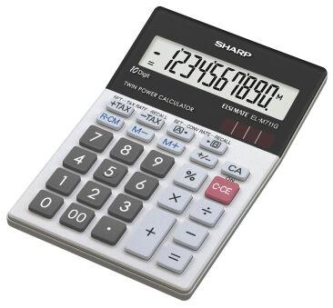 SHARP Calculatrice de bureau modèle EL-M711GGY