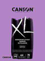 CANSON Bloc croquis et études MARKER 'XL MARKER', A4