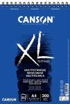 CANSON Bloc croquis et études 'XL MIX MEDIA', A2