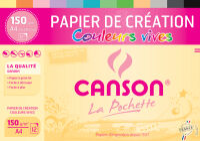 CANSON Papier de création dans une pochette, A4, 150 g/m2,