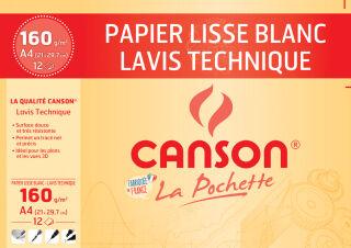 CANSON Papier de dessin technique, A4, 160 g/m2, blanc