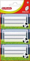 herlitz Etiquettes pour livres Football, 78 x 42 mm