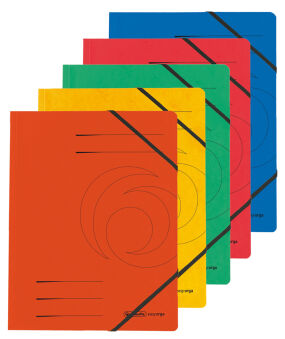 herlitz Chemise easyorga, A4, carton, bleu