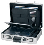 ALUMAXX Attaché-case pour laptop 'CARBON', aluminium