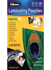 Fellowes Pochette à plastifier, A2, brillante, 250 microns