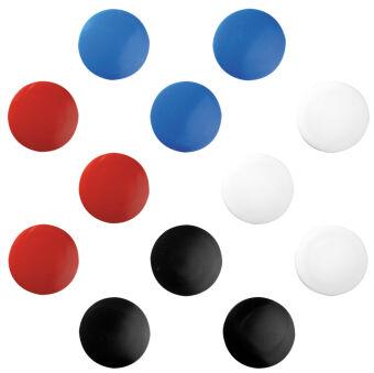 herlitz Aimants, rond, diamètre: 30 mm, assorti en couleur